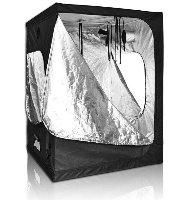 5x5 heavy duty Grow tent kit with 3/ 300w full spectrum led Grow lights, ventilation, carbon filter, temp monitor, adj hangers, timer. More options a