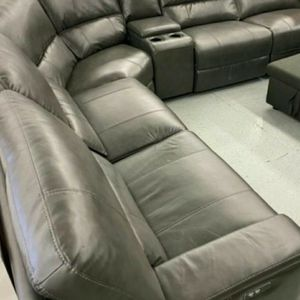 Leather Sectional Powered Couch for Sale in Clovis, CA