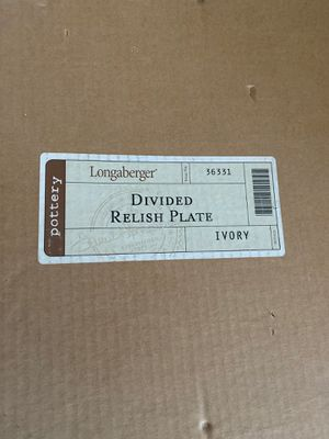 Longaberger divided relish plate for Sale in Mesa, AZ