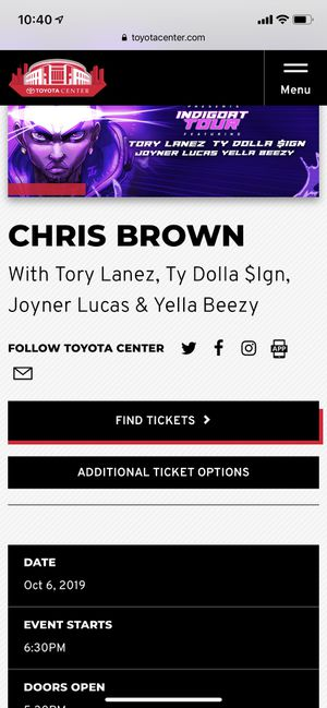 CHRIS BROWN TICKETS ! for Sale in Katy, TX
