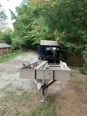 Extra heavy duty Trailer 6 lug axles with 20 feet deck and brand new tires and lights for Sale in Taylors, SC
