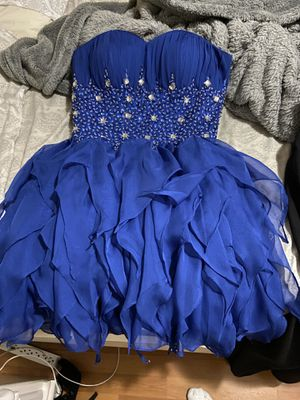 short royal blue dress size small for Sale in Cutler Bay, FL