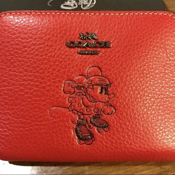 Disney x Coach red wallet small
