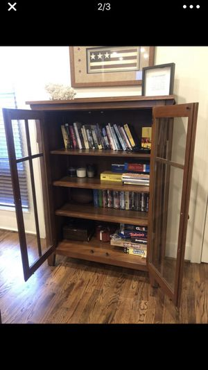 Dark Wood Multi-shelf Cabinet for Sale in Houston, TX