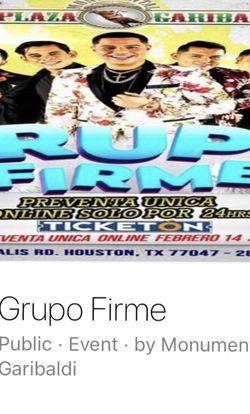 Grupo Firme: Houston Tx April 24 for Sale in Houston,  TX