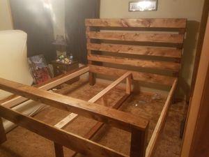 Wood bed frame for Sale in Appleton, WI