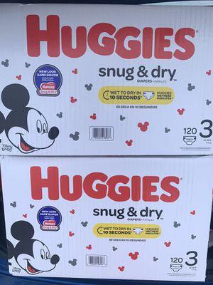New size 3 huggies for Sale in Omaha, NE
