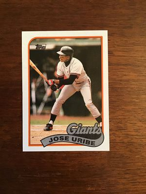 Jose Uribe 1989 Topps Baseball Card for Sale in Wichita, KS