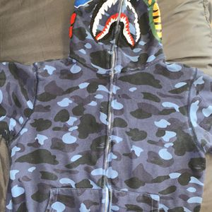 Blue Authentic Bape Hoodie for Sale in Hyattsville, MD