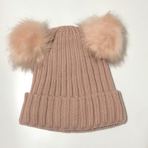 Pink Knit Beanie With Pom Pom Warm Inside Lining for Sale in Temple City, CA