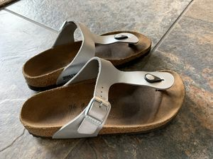 Silver Birkenstock Sandals - Size 36, Excellent for Sale in Glendora, CA