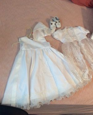 Baptism dress and shoes for Sale in Jonesboro, GA