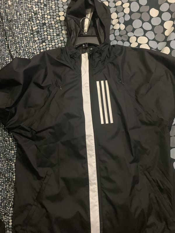 Adidas Black windbreaker new with tags size Large