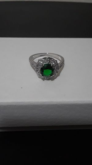 Sterling Silver Emerald Cocktail Ring for Sale in Tampa, FL