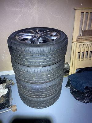 Benz C300 new tires and rims in exchange for Mac Book Pro for Sale in Los Angeles, CA
