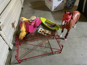 American Girl Doll motorcycle, horse, canoe for Sale in Rocklin, CA