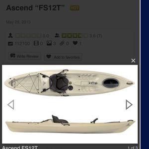 12ft Ascend Fishing Kayak for Sale in Hampton, VA