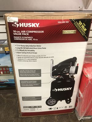Compressor, Tools-Air Husky 10 Gal Air Compressor brand new in box for Sale in Baltimore, MD