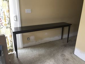Console dark wood table for Sale in Los Angeles, CA