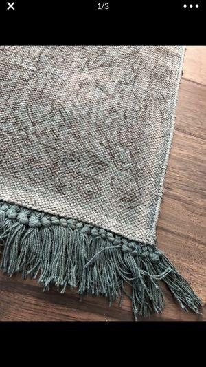 Teal dhurrie/flat weave bohemian rug 9x12 for Sale in Granite Falls, WA
