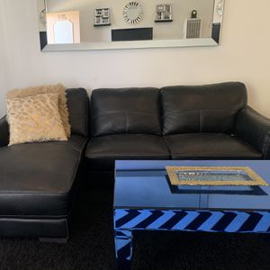 real leather sectional couch for Sale in Downey, CA