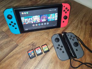 Nintendo Switch + Extra JOYCON wireless set + 7 Games + Wall charger + Travel Case for Sale in Norwalk, CA