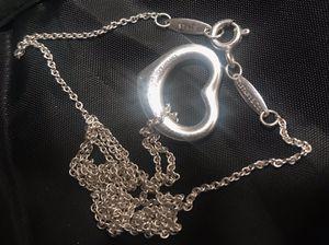 Tiffany & CO open heart pendant 16mm for Sale in Guadalupe, AZ