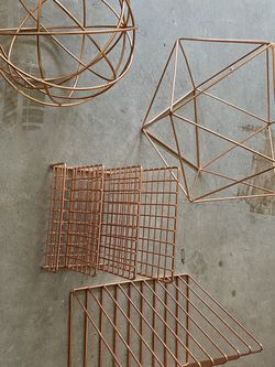 Geometric Rose Gold Decorative Objects for Sale in Alexandria,  VA