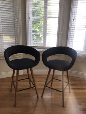 2 bar stools w/ wooden legs for Sale in San Francisco, CA