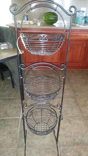 Kitchen 3 tier basket stand for Sale in Hesperia, CA