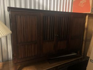 Hardwood TV stand with storage for Sale in Coral Gables, FL