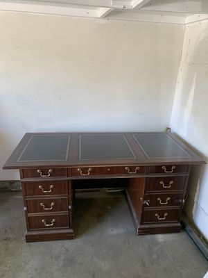 Antique Chocolate Brown Desk for Sale in Los Angeles, CA
