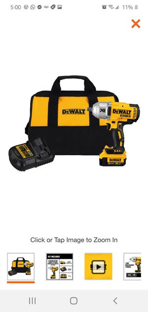 DEWALT 20-Volt MAX XR Cordless Brushless High Torque 1/2 in. Impact Wrench w/ Detent Pin Anvil,Battery 4.0Ah,Charger & Tool Bag for Sale in Dumfries, VA