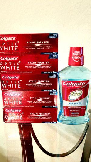 (5) Colgate Optic White 4.2 oz + MouthWash for Sale in Alafaya, FL