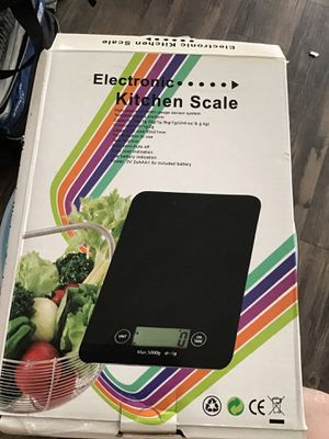Battery operated KITCHEN SCALES NEW IN BOX ONLY BLACK COLOR LEFT ONLY HAVE 3 left $12 each for Sale in Garden Grove, CA