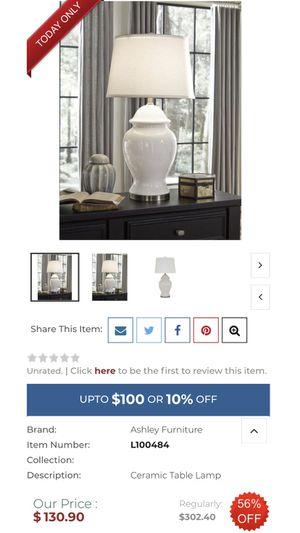 Brand new ceramic lamp. for Sale in Apple Valley, CA