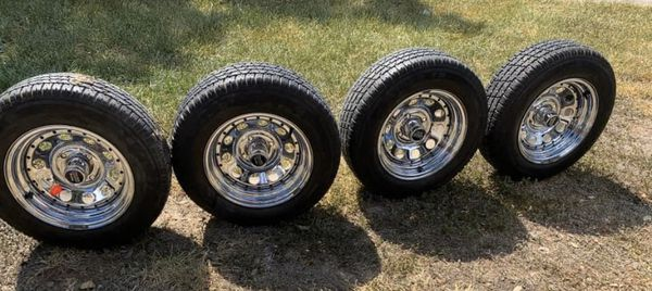 Make a serious offer/ 4 lug set / mint condition rims tires