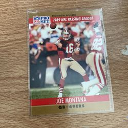 1989 Joe Montana passing leader for Sale in Antioch,  CA