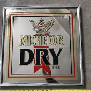 Vintage Michelob Dry Beer Brewing Mirror Sign for Sale in Hasbrouck Heights, NJ