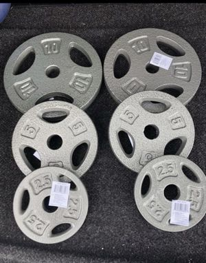 NEW 35lbs CAP Weight Plate Set for Sale in Fontana, CA
