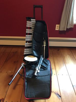 Starter Drum Pad and Bells with Case for Sale in North Andover, MA