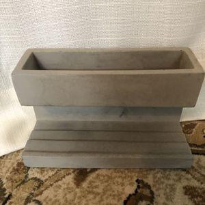 Kikkerland Concrete Desk Organizer / Planter for Sale in Virginia Beach, VA