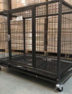 ✅BRAND NEW frenchie & bully heavy duty dog kennel cage crate with wheels and plastic tray sealed box, 🐕 see dimensions in second picture🇺🇸 for Sale in Norwalk,  CT