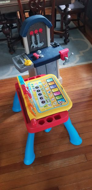 Work bench and kids play n learn desk for Sale in Milford, CT