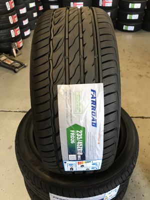 235/45/18 New set of tires installed for Sale in Rancho Cucamonga, CA
