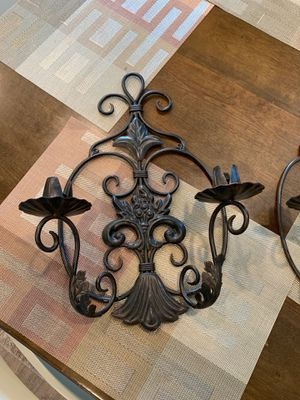 Cast iron candle holder set for Sale in Nokesville, VA