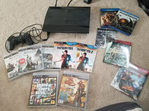PS3 with games and movies for Sale in Holly Springs, NC