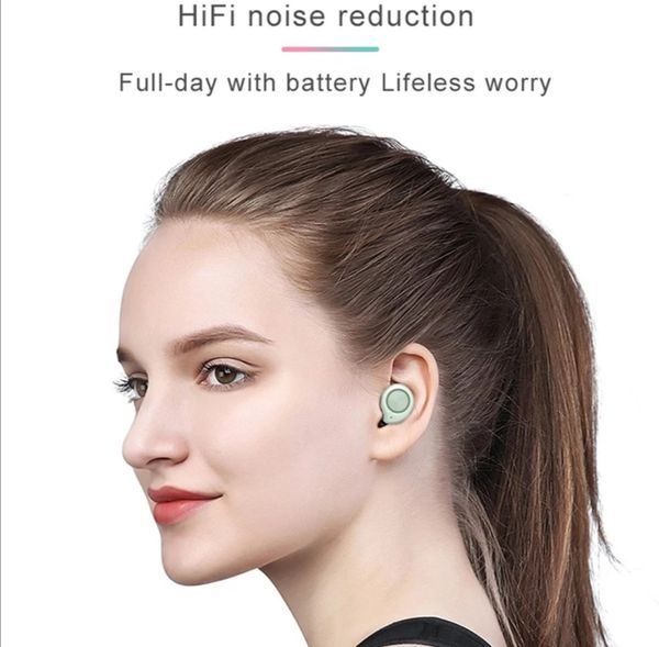 (B15)Bluetooth True Wireless Earphone 5.0 Touch Control Earbuds Waterproof Music Headset