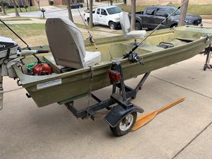 14ft Aluminum Hull Flat Bottom John Boat for Sale in Fort Worth, TX