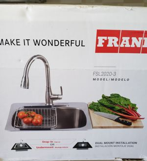 "STAINLESS STEEL SINGLE BOWL KITCHEN SINK........20"" x 20.5"" x 10........BRAND NEW..... for Sale in BVL, FL"
